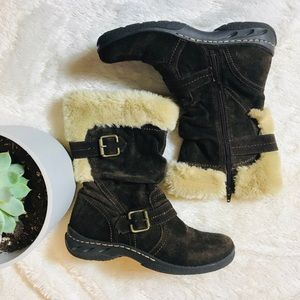 Earth Spirit Brigitte Brown Suede Boots